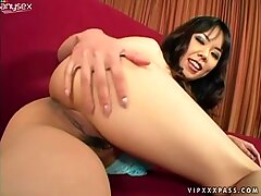 Saucy Asian hoe Tomo Paradise jiggles with her juicy bum