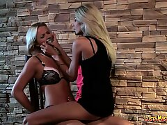 iAmPorn - Submissive blonde gets strapon fucked