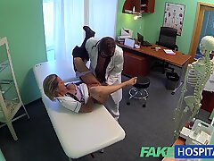 FakeHospital naughty ash-blonde nurse gets doctors total attentio
