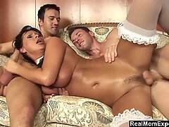 RealMomExposed -  Rich Guy Fucks His Sexy MILF Valet