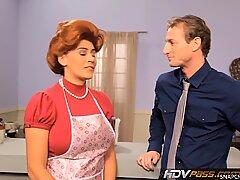 HDVPass Sexy Redhead Housewife Raylene Gives a Loving Blowjob - Zuzana Drabinova