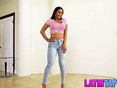 Astonishing fledgling Latina Valerie Kays cool casting tape