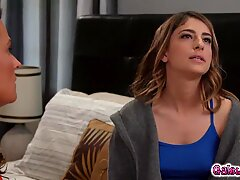 Elexis Monroe caught at the motel by her stepdaughter Kristen plead and fucked