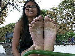 splendid French Cambodian feet Soles foot worship