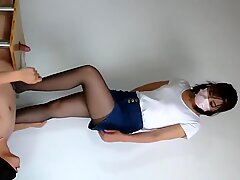 Chinese mistress cock trample cum