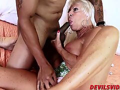 Sexy granny Mandy McGraw gets banged by horny black stud   - Hardcore Mandy