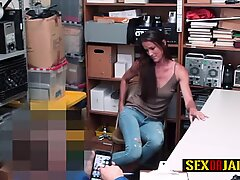 Hot milf is contrived by horny officer into taking his big cock