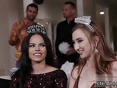 Mother playfellow s daughter anal New Year New Swap