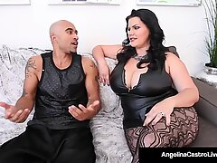 Thick Cuban Angelina Castro & King Noire Fuck Milf Angelina Castro!