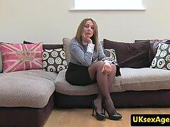 British milf creampied by casting agent