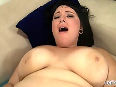 Enchanting BBW Alexxxis Allure Rides His Cock till He Cums in Her Mouth