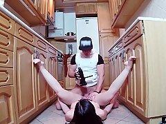 Crazy slut bounces her bubble ass on a fat cock