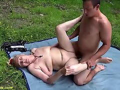 85 years old granny rough outdoor fucked 85 720p