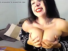 Big Natural Tits Brunette Passionate Play Pussy Sex Toy