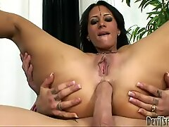 Lustful Indian whore Maya Nisha tops the cock stretching her asshole wide
